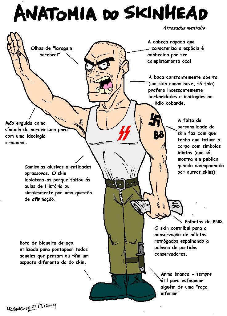 diferencia punk skin: